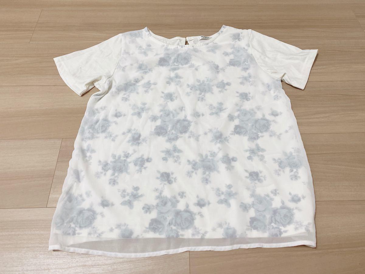 トップス 花柄 Tシャツ glacier