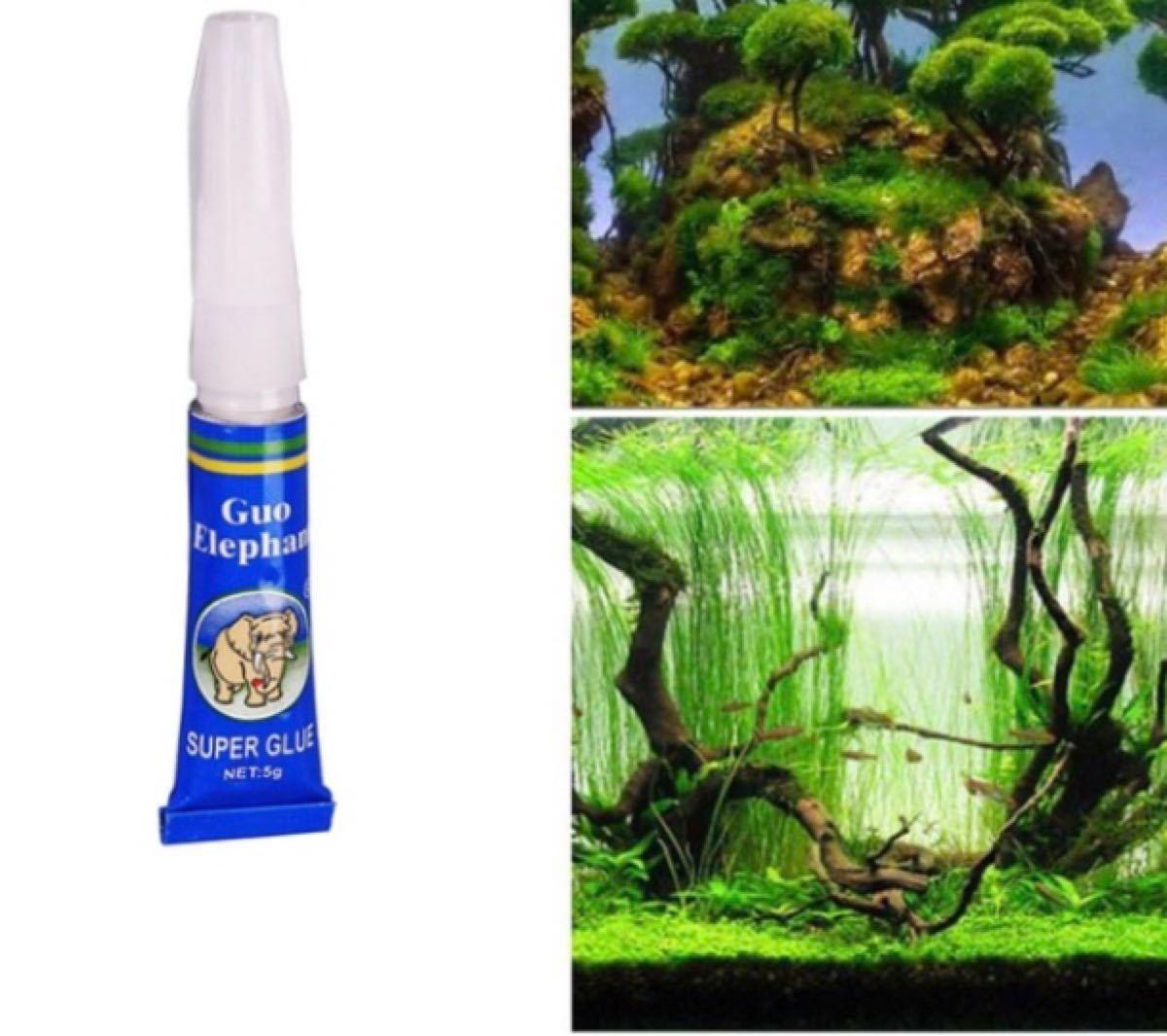 新品未使用 水草 苔 接着剤 流木 アクアリウム 水槽 テラリウム レイアウト