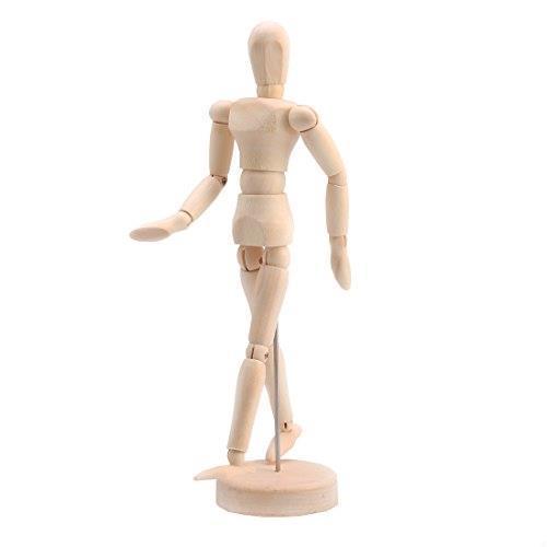 Andux Space デッサン人形 モデル 木製 美術/撮影/インテリアなどに MRMX-01 (14cm)_画像1
