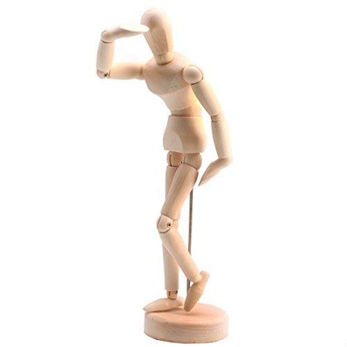 Andux Space デッサン人形 モデル 木製 美術/撮影/インテリアなどに MRMX-01 (14cm)_画像5