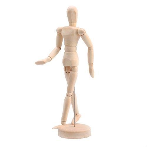 Andux Space デッサン人形 モデル 木製 美術/撮影/インテリアなどに MRMX-01 (14cm)_画像6