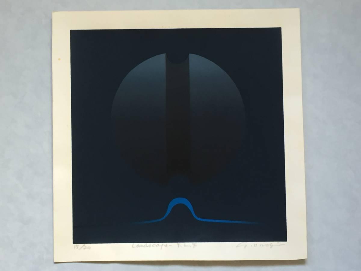 小野木 学 『Landscape‐T.L.F』 シルクスクリーン 直筆サイン入り 20部 額装【真作保証】_画像3