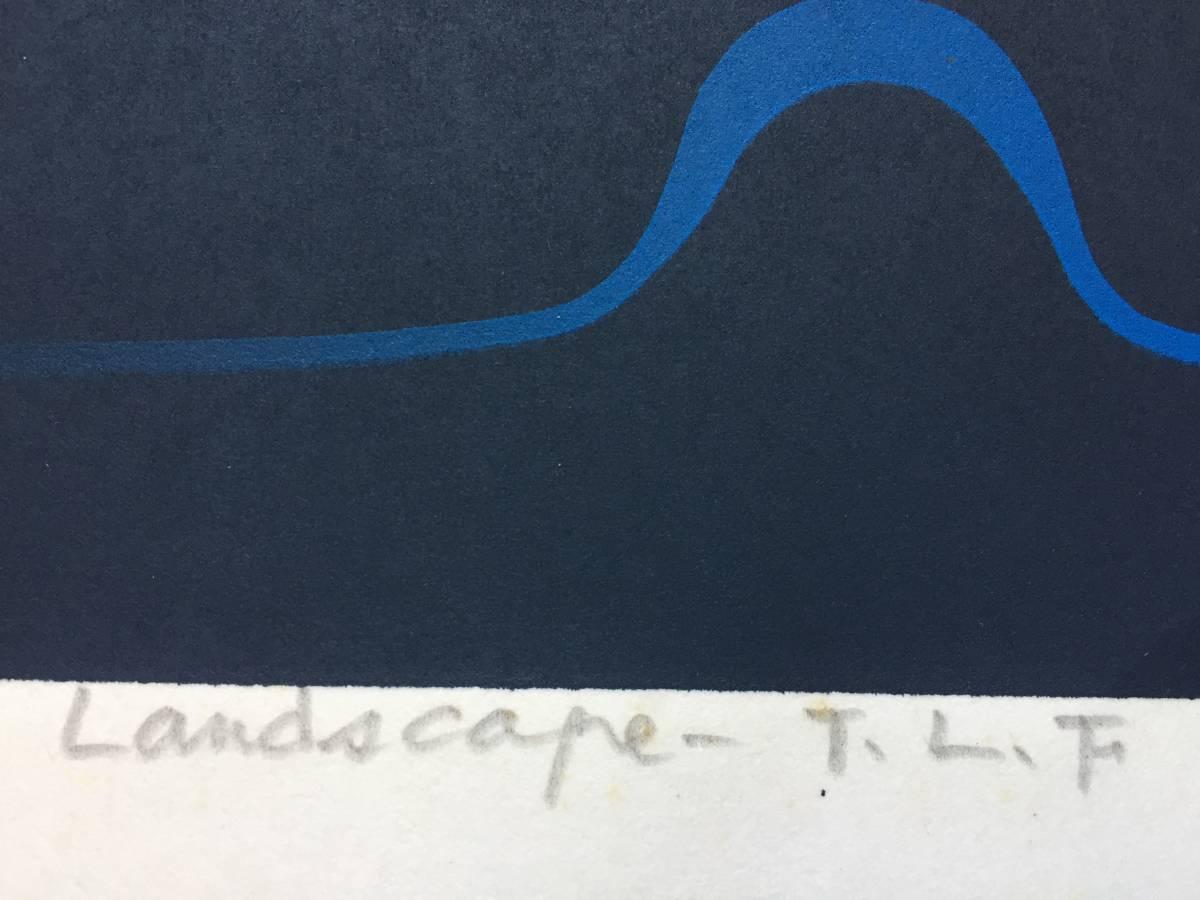 小野木 学 『Landscape‐T.L.F』 シルクスクリーン 直筆サイン入り 20部 額装【真作保証】_画像5