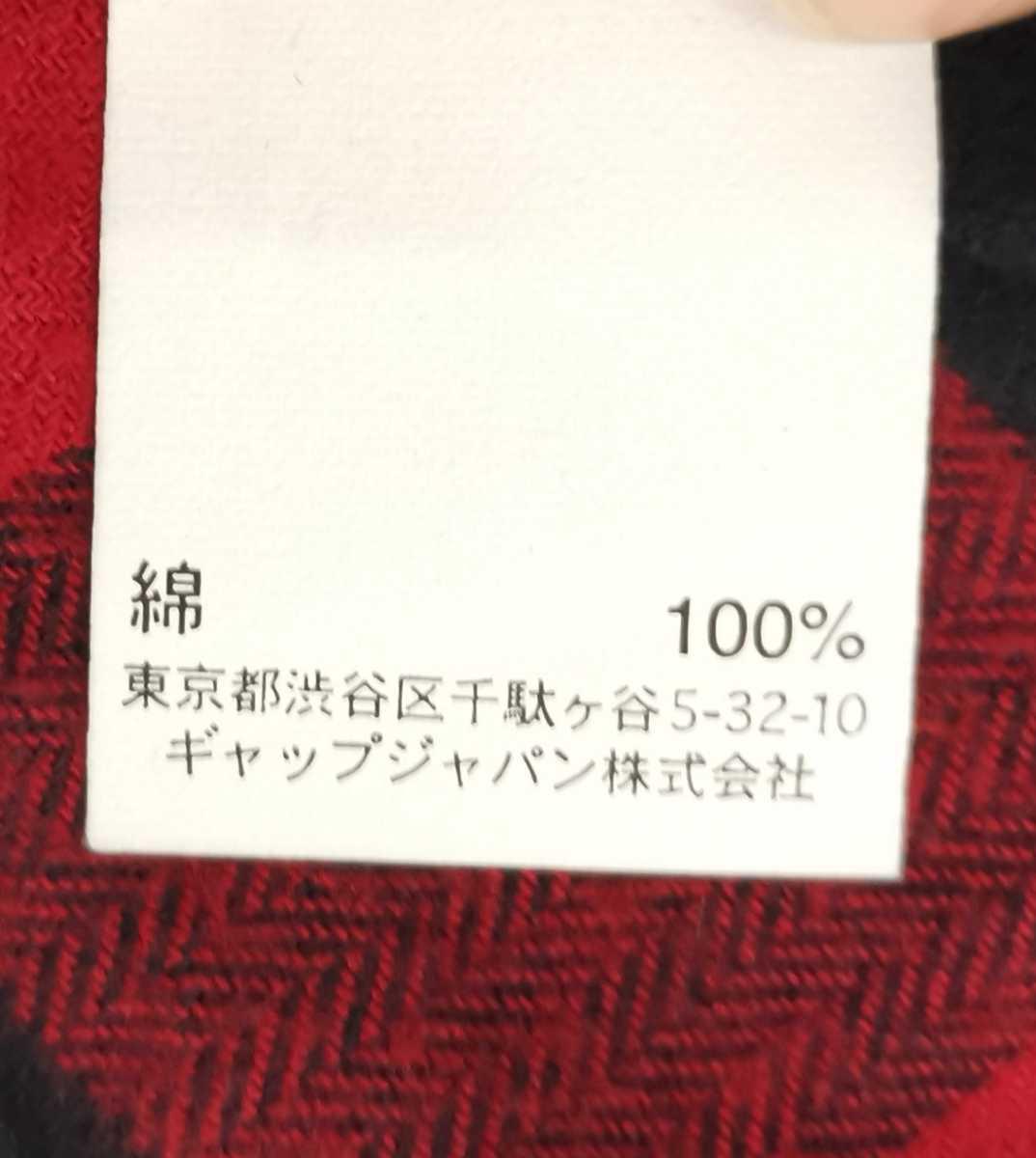 #メンズ(トップス)【GAP】★ギャップ★長袖シャツ★チェック柄ネルシャツ★SLIM★赤×黒★表記サイズ(XS)★送料無料★fe-14