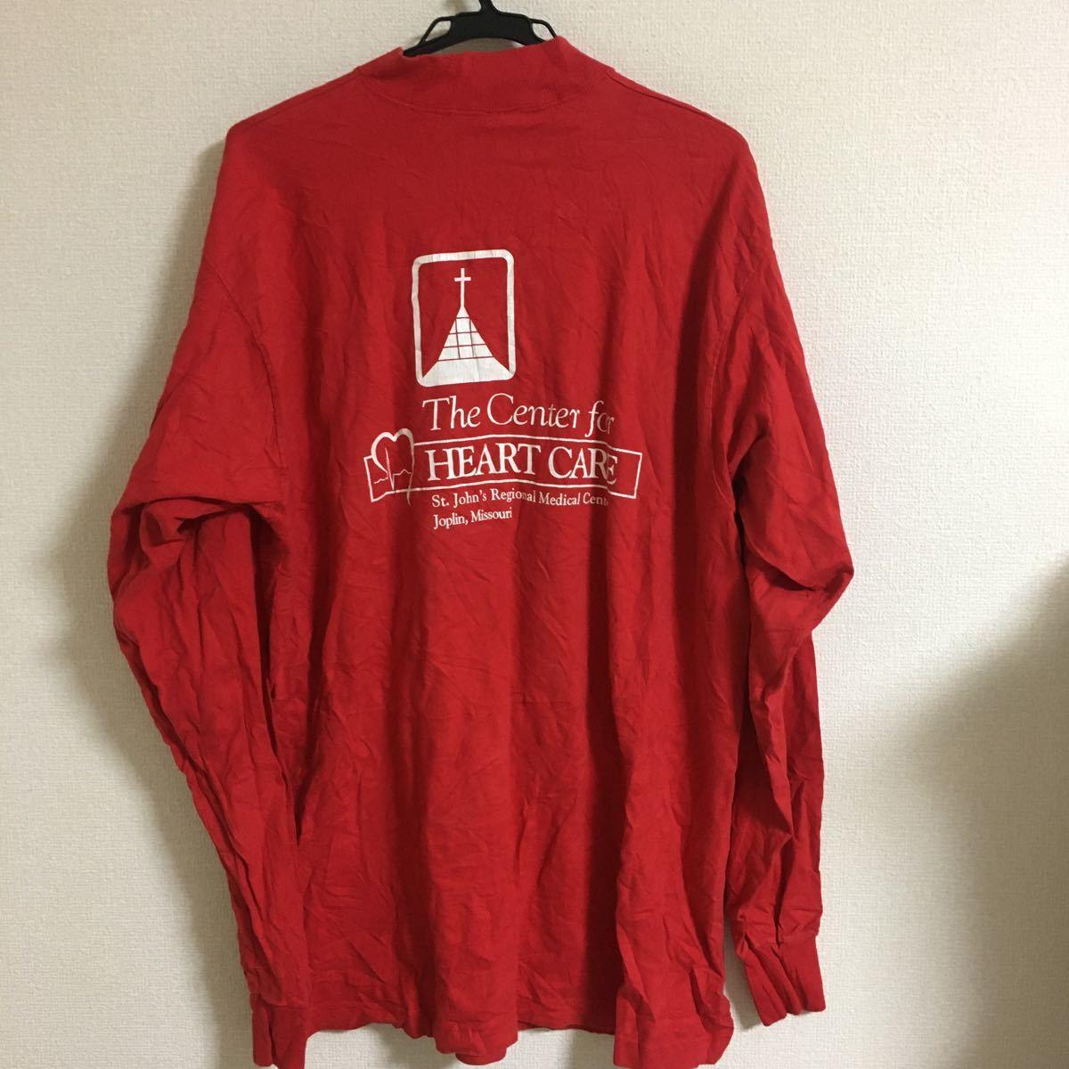 FRUIT OF THE LOOM フルーツオブザルーム ロゴ プリント 長袖 Tシャツ 赤 アメカジ XL 大きいサイズ