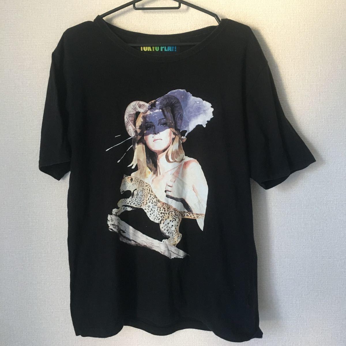 半袖Tシャツ プリントTシャツ 黒 TOKYO PLAY