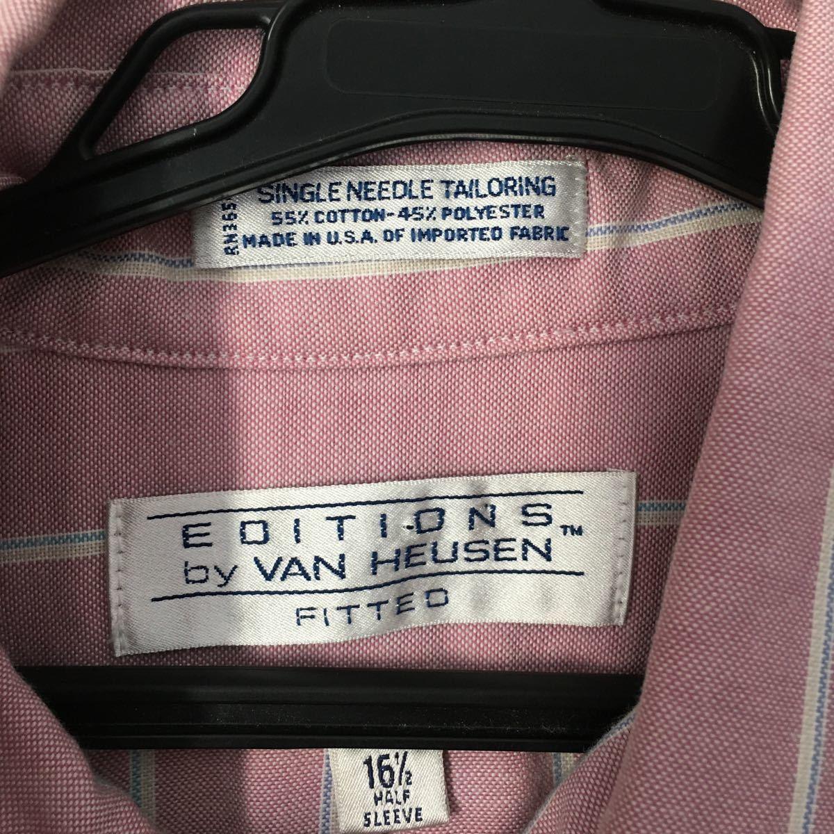 Van Heusen◆ヴァンヒューゼン/半袖シャツ シャツ L ボタンダウンシャツ 半袖 アメカジ