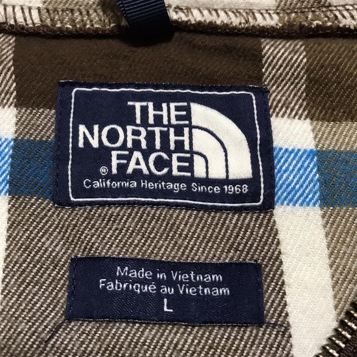 THE NORTH FACE ザ ノースフェイス フルジップパーカー スウェットパーカー L ブラウン アースカラー ネームタグ ビッグサイズ