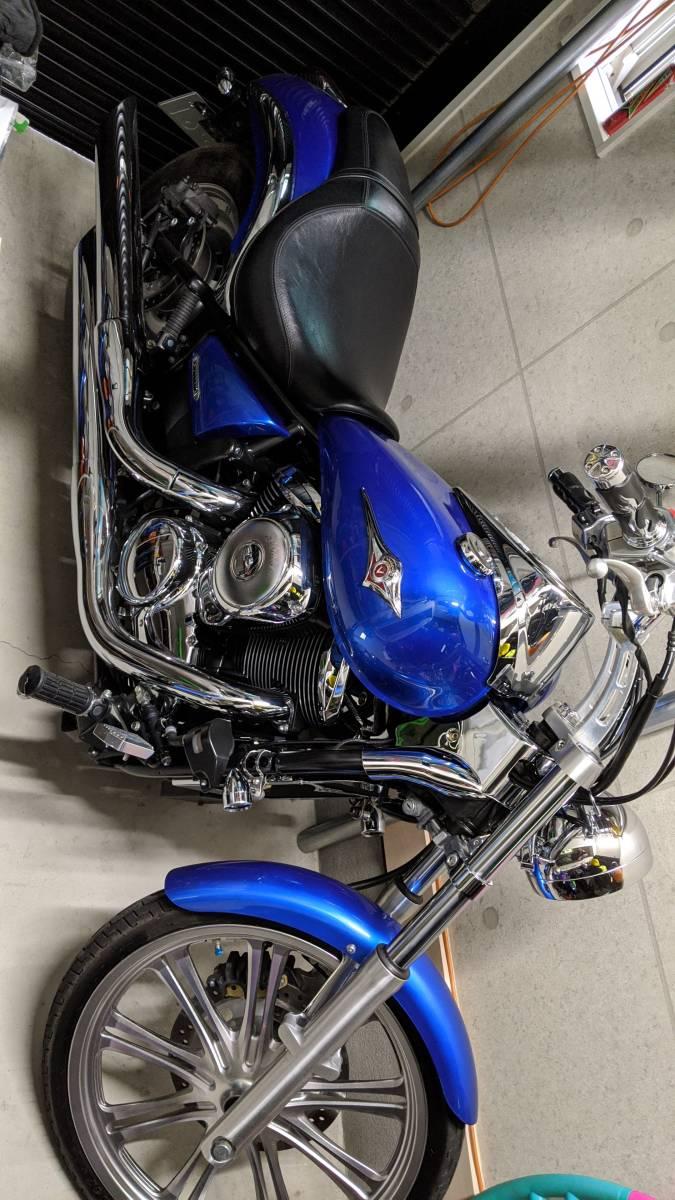 「Kawasaki バルカン 900 カスタム 車検あり カワサキ アメリカン ブルー 青」の画像3