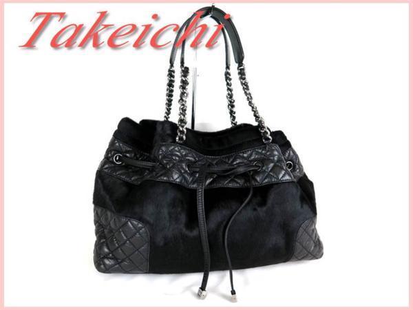 [Chanel] Harako x Lambskin ★ Сумка на ремне, черная / G510 Chanel и сумка, сумка и сумка через плечо