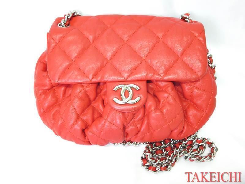 [Chanel] Сумка из овечьей кожи ★ Диагональная сумка через плечо Matrasse Red Red / 10019365 Chanel и сумка, сумка и сумка через плечо