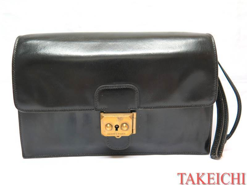 [Hermes] Box Calf ★ Вторая сумка Jet Black Black / I360 / 23209 Hermes и сумка, сумка и прочее