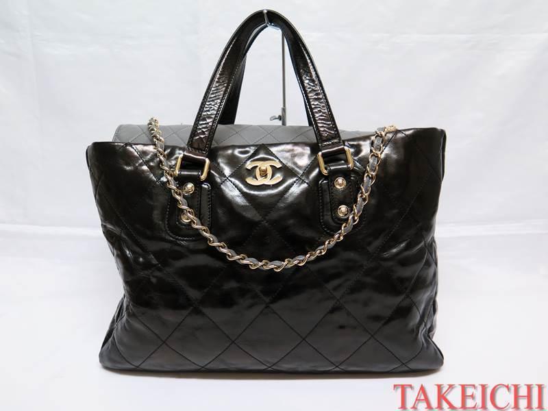 [Chanel] Кожаная сумка через плечо ★ 2WAY / сумка Portobello Black [Бывшее в употреблении] / b24367 Chanel и сумка, сумка и сумка через плечо