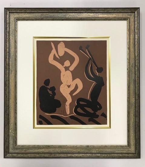 【特価】 ≪  パブロ・ピカソ  ≫  LINOLEUM-CUTS【リノカット版画】  NOTHER AND CHILD  1962年  PABLO PICASSO