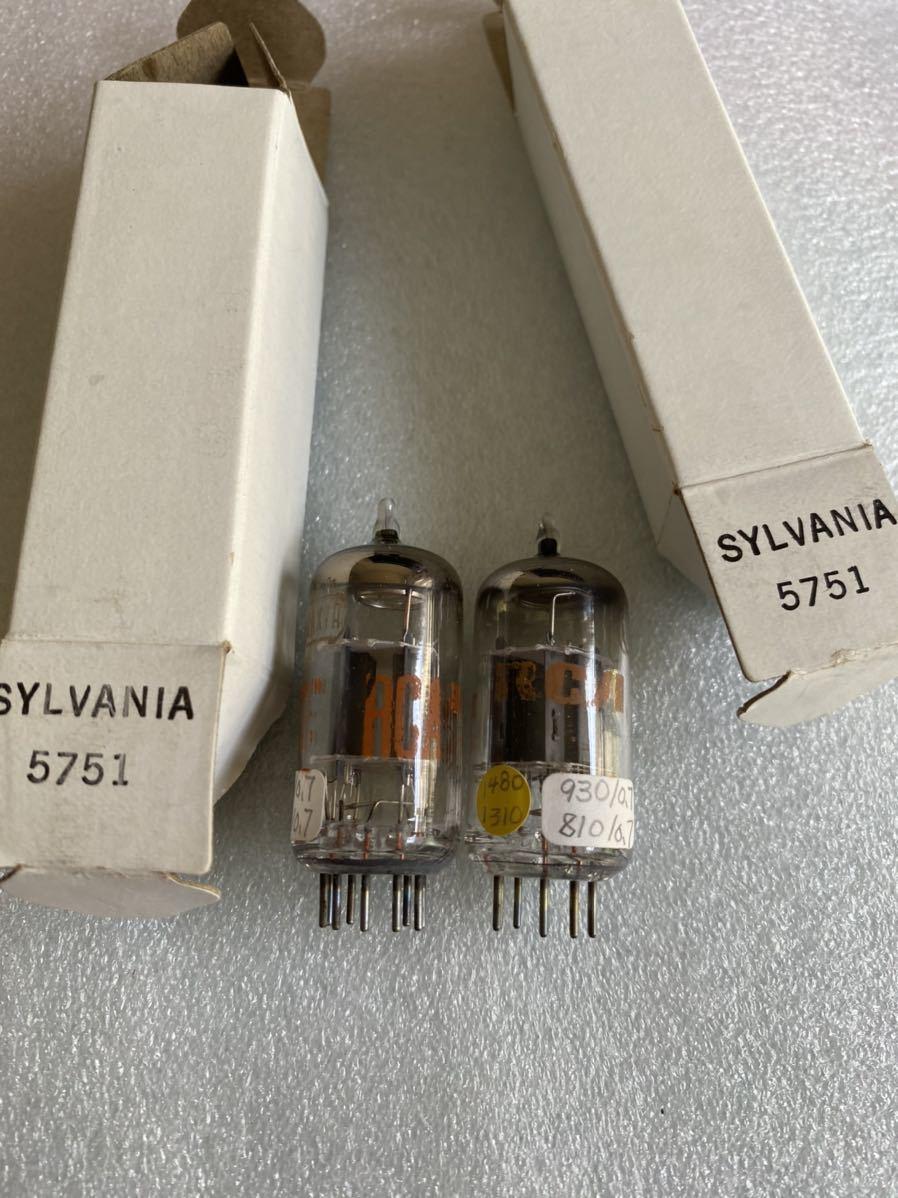 RCA真空管12AX7Aペアです。委託品です。詳しくないので細かいことは分かりません。_画像1