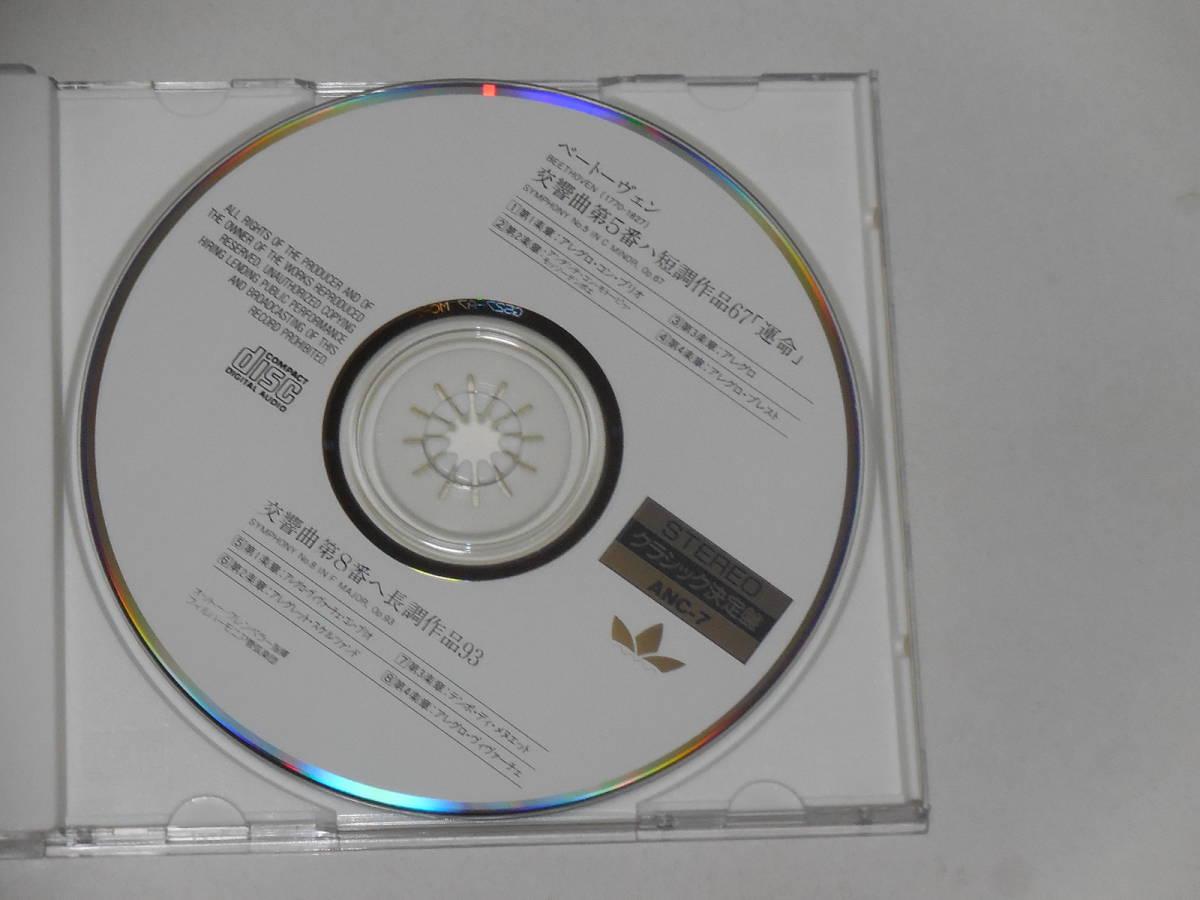 【CD1枚】ベートーヴェン交響曲5番『運命』8番  クレンペラー指揮 フィルハーモニー管弦楽団_画像2