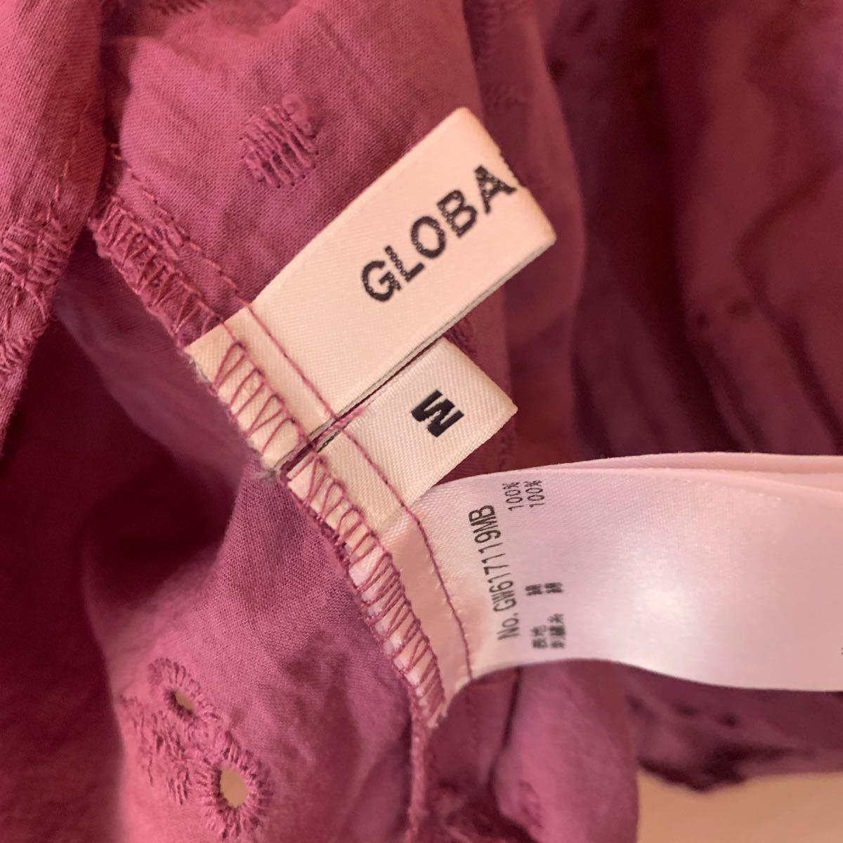 カットソー Tシャツ 刺繍 紫
