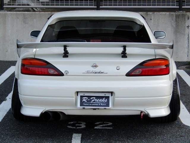 即決!S15 シルビア スペックR 6速MT ターボ 車高調 社外マフラー 3ナンバー登録ワイドボディ 他改造多数_画像4