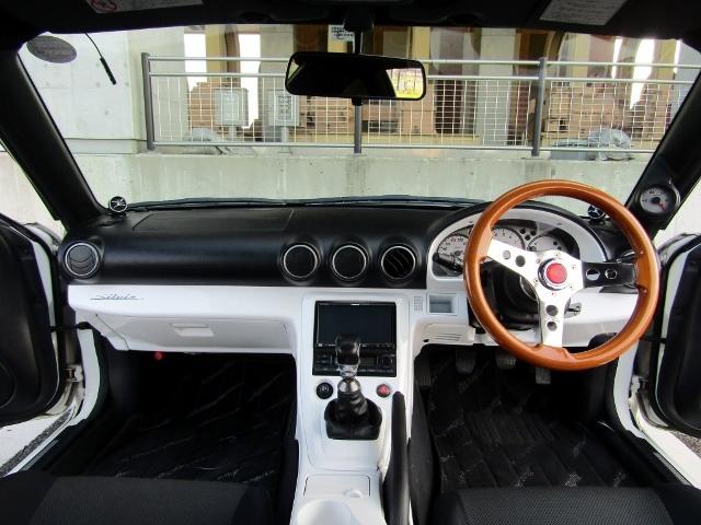 即決!S15 シルビア スペックR 6速MT ターボ 車高調 社外マフラー 3ナンバー登録ワイドボディ 他改造多数_画像6