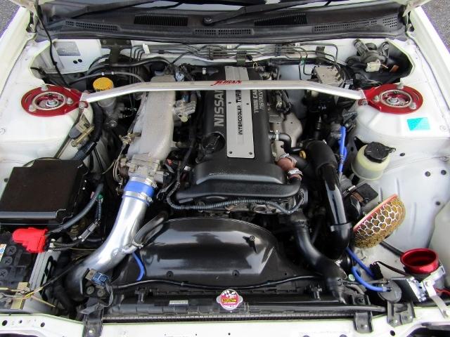 即決!S15 シルビア スペックR 6速MT ターボ 車高調 社外マフラー 3ナンバー登録ワイドボディ 他改造多数_画像9