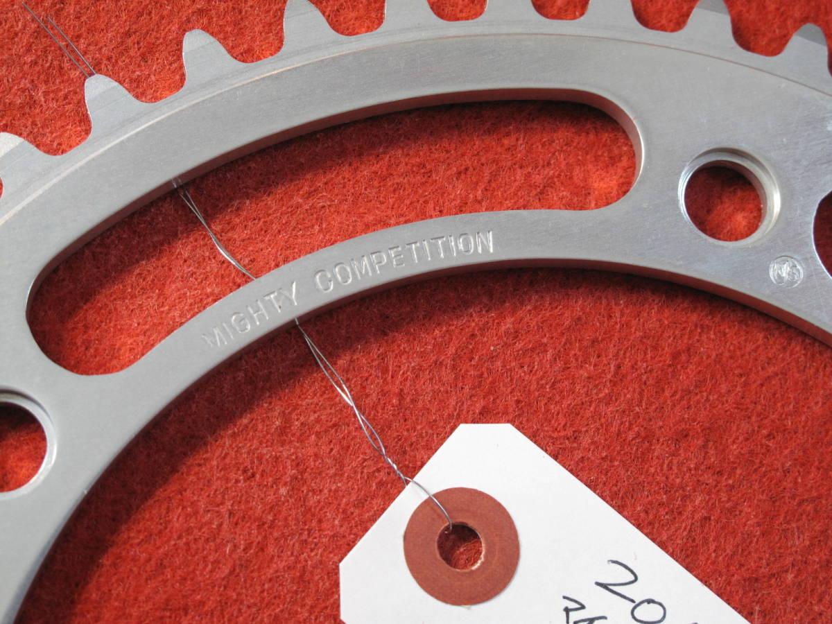 20111 マイティコンペ MIGHTY COMPETITION チェーンリング 49T ピスト用 新品 NJS 厚歯リブ付 PCD: 151 新品未使用_画像5