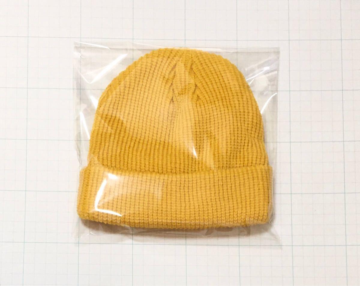 ニット帽 ビーニー 黄色 イエロー無地 ニットキャップ