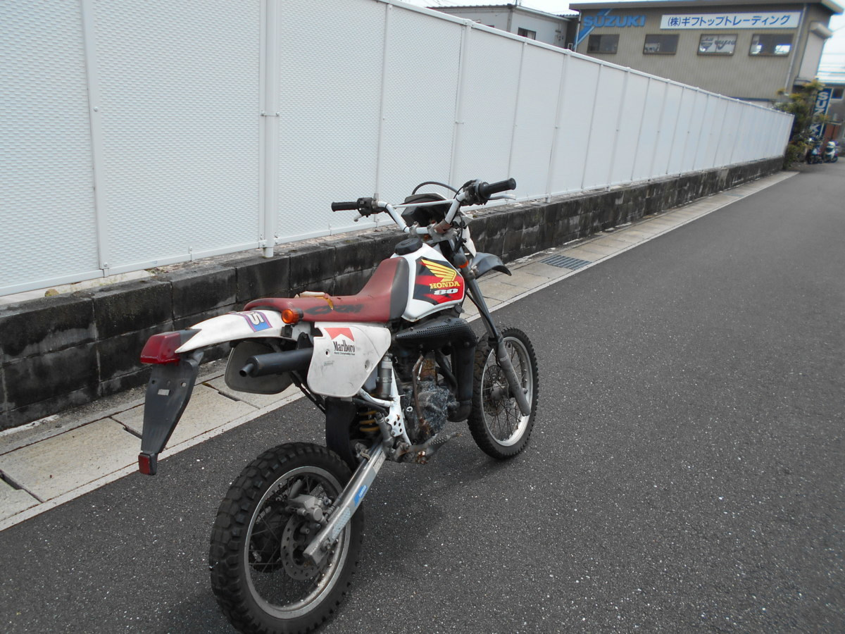 「絶版メーカ―廃盤ホンダCRM80HD12事故ジャンク車両!わけ有りレストア値上げ趣味のバイクマニア館ギフトップトレ-ディングカンパニ-」の画像3
