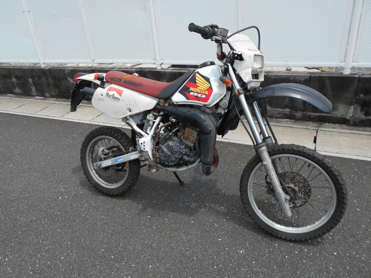「絶版メーカ―廃盤ホンダCRM80HD12事故ジャンク車両!わけ有りレストア値上げ趣味のバイクマニア館ギフトップトレ-ディングカンパニ-」の画像1
