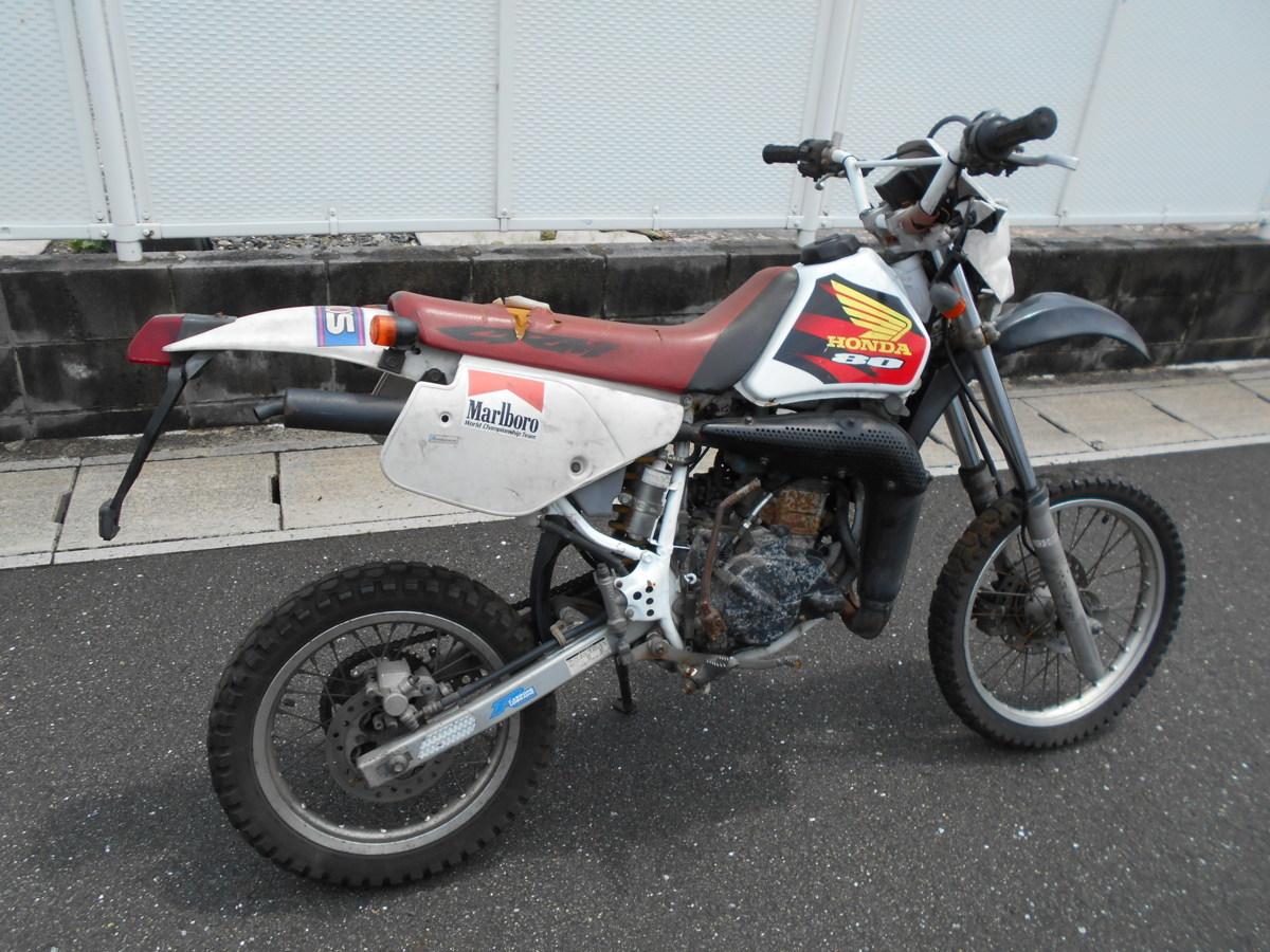 「絶版メーカ―廃盤ホンダCRM80HD12事故ジャンク車両!わけ有りレストア値上げ趣味のバイクマニア館ギフトップトレ-ディングカンパニ-」の画像2
