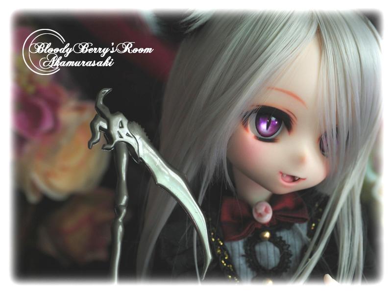 【赤紫】DDH-01セミホワイト肌カスタムヘッド+ディーラー様製アイ3種■_画像3