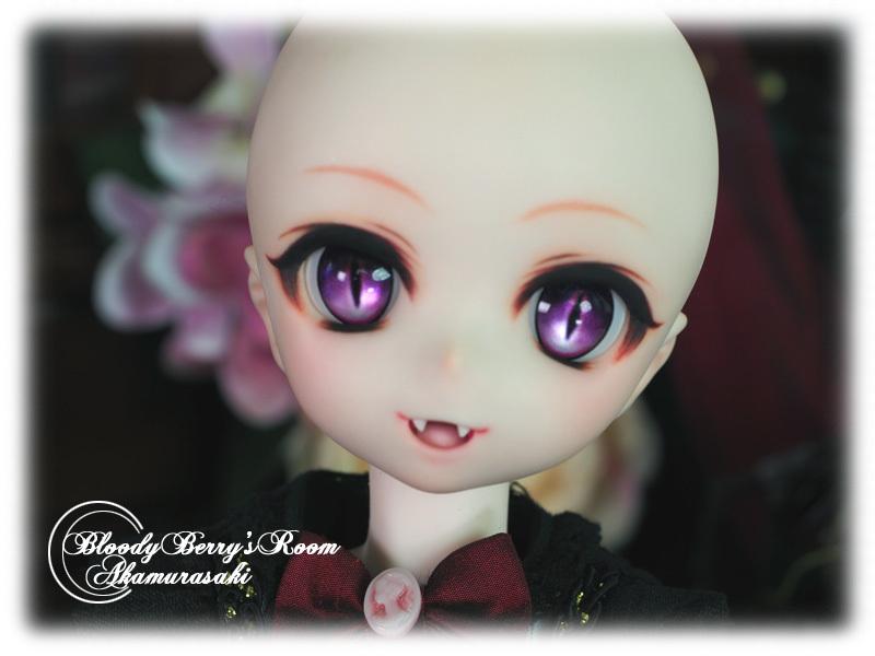 【赤紫】DDH-01セミホワイト肌カスタムヘッド+ディーラー様製アイ3種■_画像7
