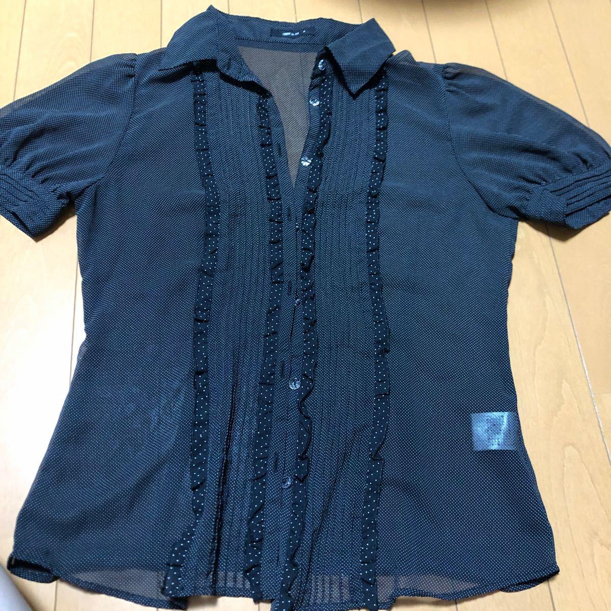 コムサイズム 半袖 透け感 シャツ M