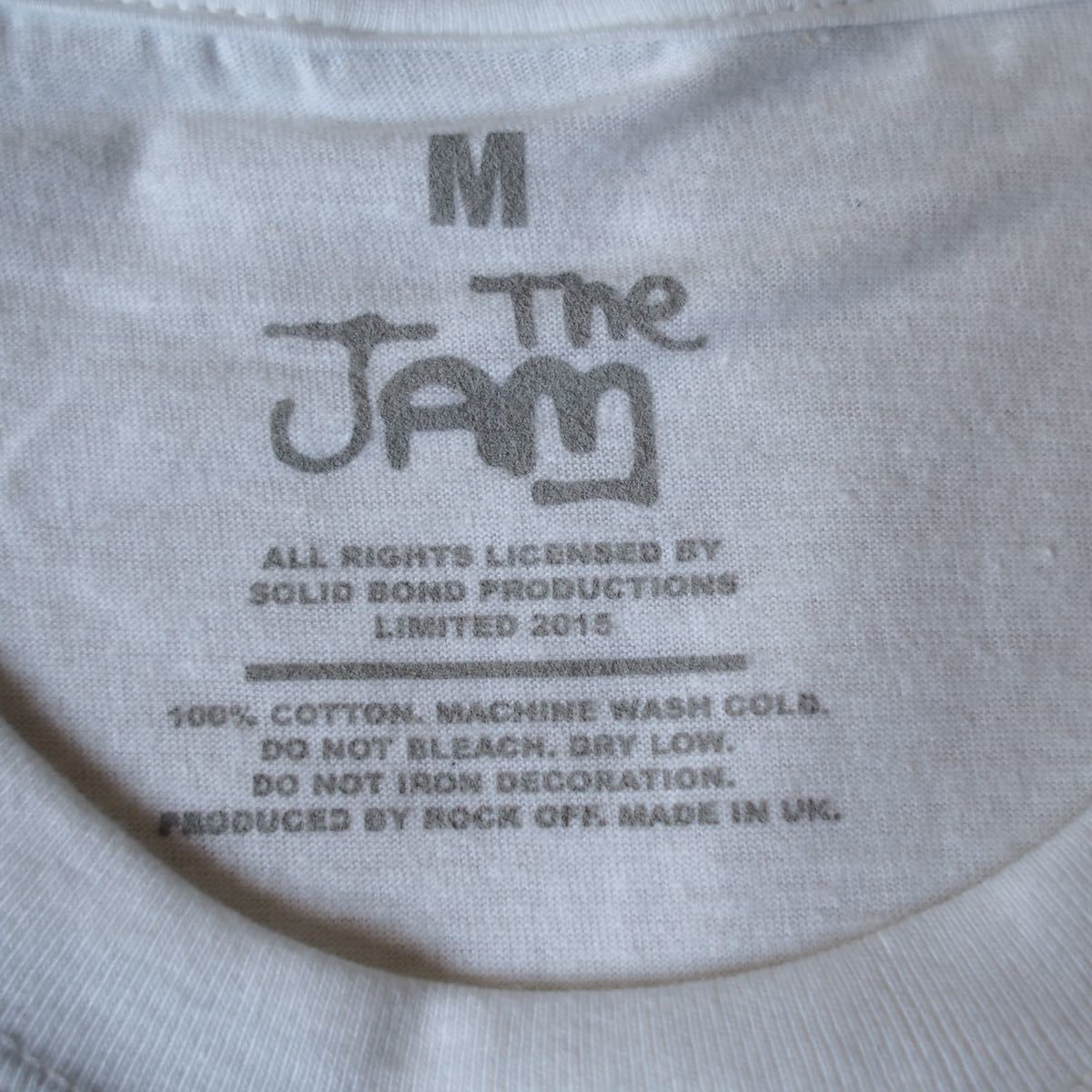 Official[The Jam]M ジャム Tシャツ バンド Nirvana Blur Sonic Youth oasis joy division Stone Roses The Cure Kinks Beatles clash_画像4