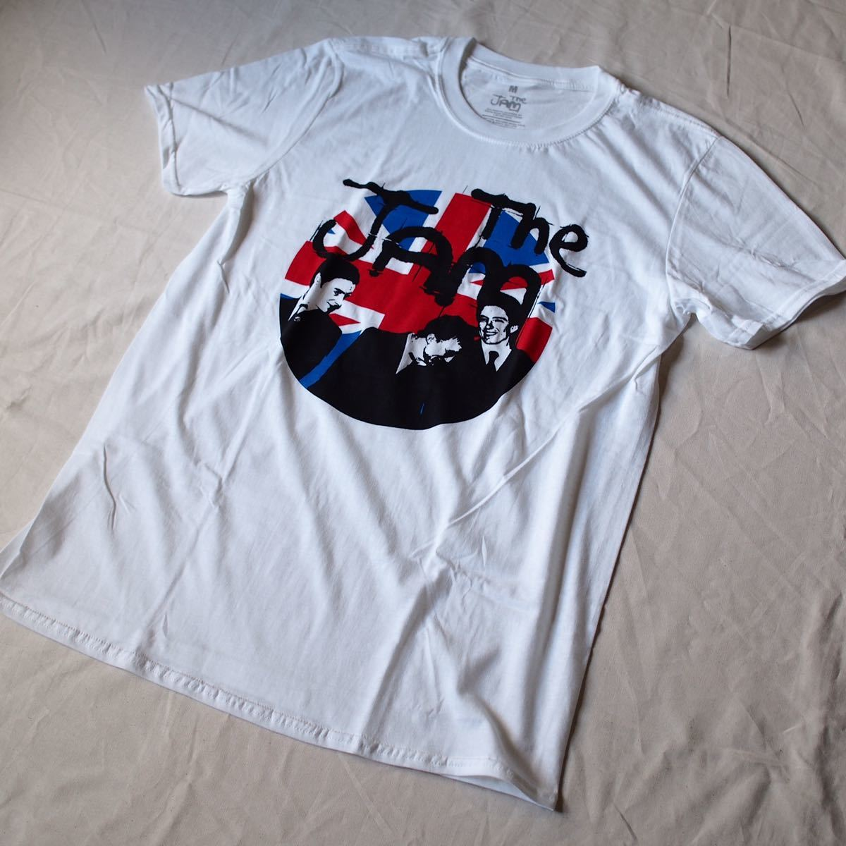 Official[The Jam]M ジャム Tシャツ バンド Nirvana Blur Sonic Youth oasis joy division Stone Roses The Cure Kinks Beatles clash_画像3