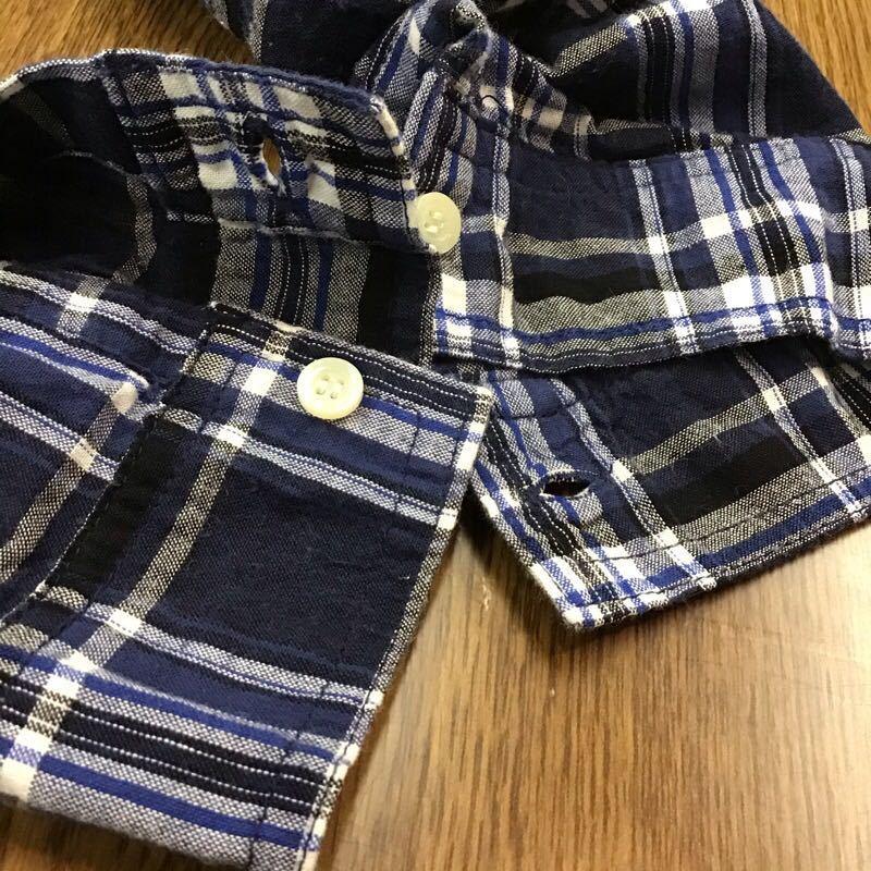 chocol raffine robe シャツワンピース フリーサイズ ブルー 長袖 ロング丈 カジュアル ブランド古着 ショコラフィネローブ 送料無料 ク118