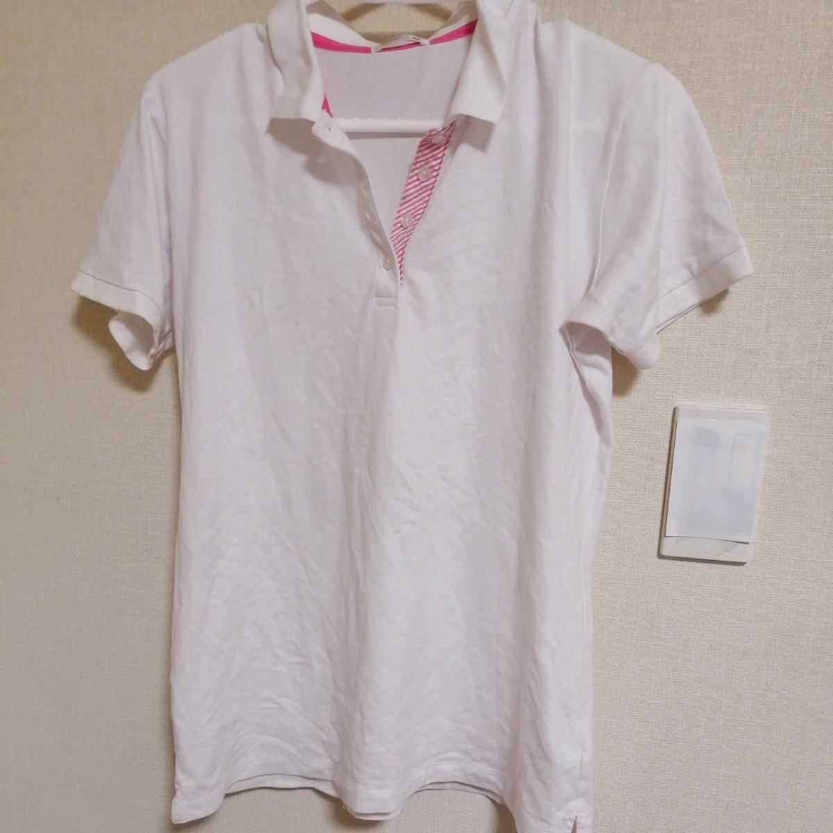 ポロシャツ 白色 半袖