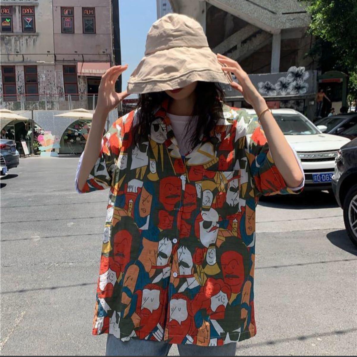 デザイン シャツ レトロ ヴィンテージ風 プリント イラスト 半袖 男女兼用