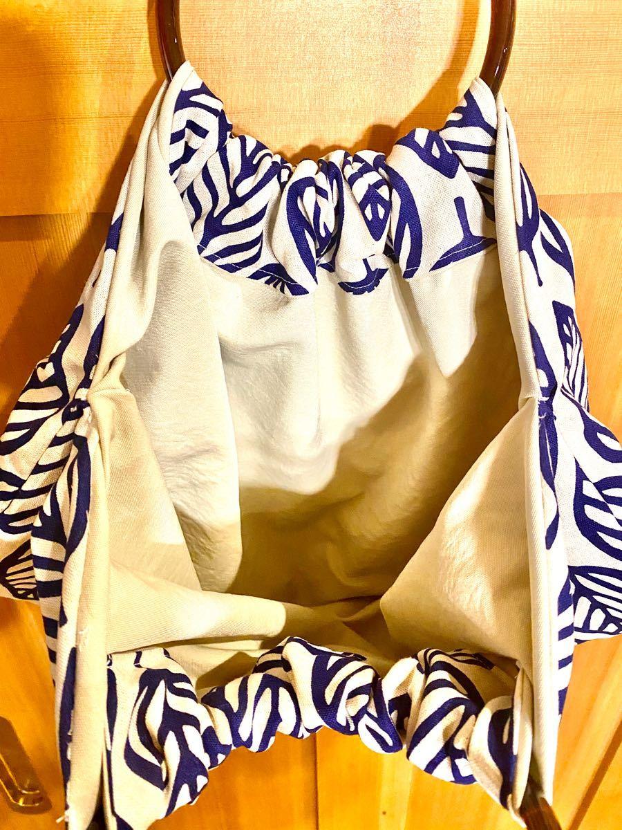 ハンドルバック バック 鞄  トートバッグ エコバッグ ハンドメイド 北欧風