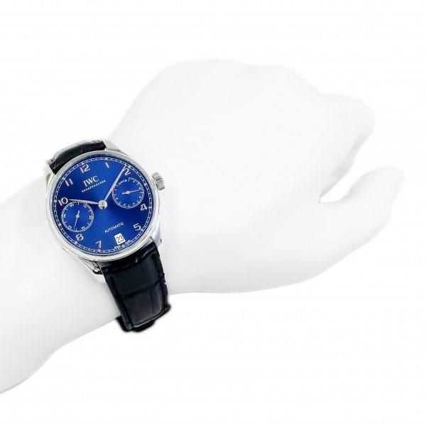 IWC ポルトギーゼ オートマティック 7デイズ IW500710 ブルー文字盤 中古 腕時計 メンズ_画像8