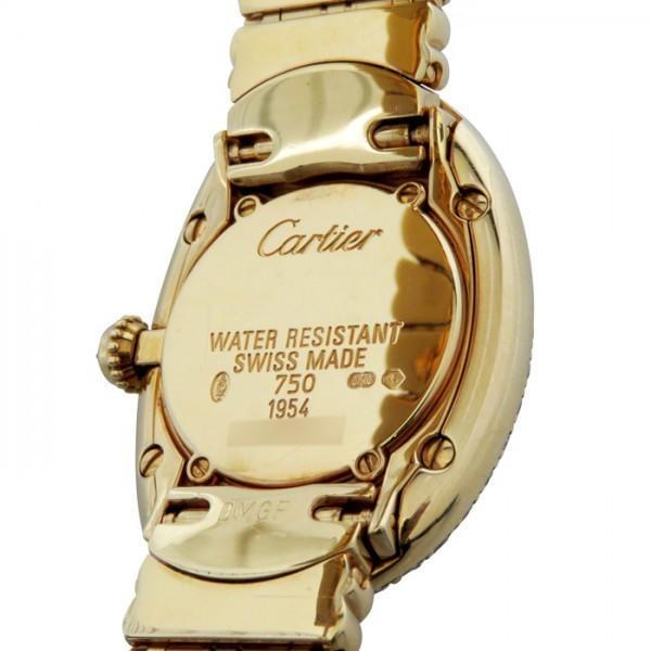 カルティエ Cartier ベニュワール ベゼルダイヤ ゴールド文字盤 中古 腕時計 レディース_画像5