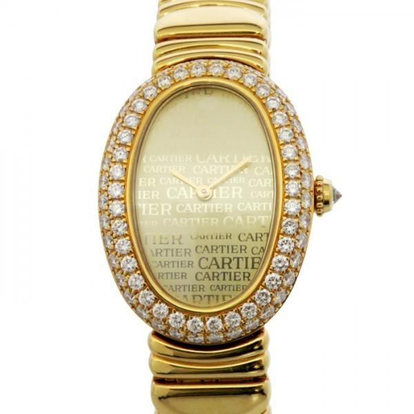カルティエ Cartier ベニュワール ベゼルダイヤ ゴールド文字盤 中古 腕時計 レディース_画像1