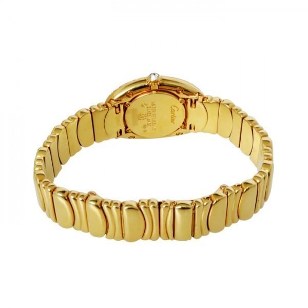 カルティエ Cartier ベニュワール ベゼルダイヤ ゴールド文字盤 中古 腕時計 レディース_画像3