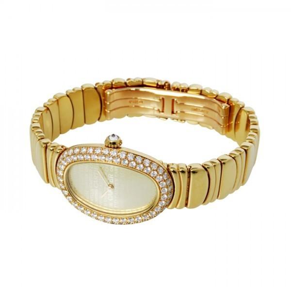 カルティエ Cartier ベニュワール ベゼルダイヤ ゴールド文字盤 中古 腕時計 レディース_画像2