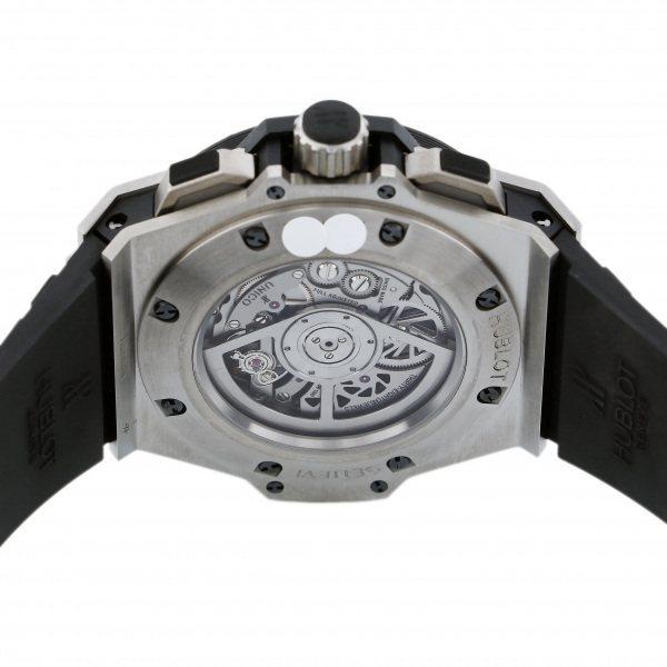 ウブロ HUBLOT キングパワー ウニコ チタニウム ダイヤ 701.NX.0170.RX.1704 シルバー文字盤 中古 腕時計 メンズ_画像7