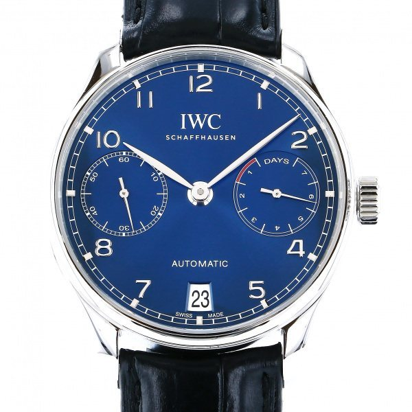 IWC ポルトギーゼ オートマティック 7デイズ IW500710 ブルー文字盤 中古 腕時計 メンズ_画像1