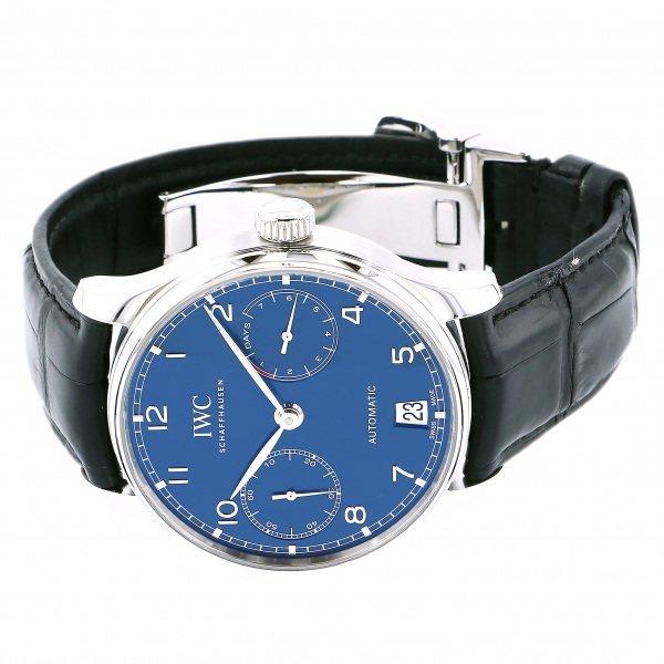 IWC ポルトギーゼ オートマティック 7デイズ IW500710 ブルー文字盤 中古 腕時計 メンズ_画像2