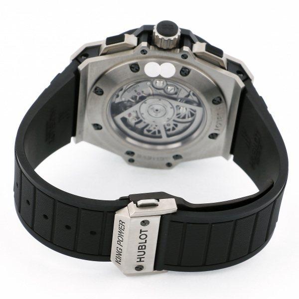 ウブロ HUBLOT キングパワー ウニコ チタニウム ダイヤ 701.NX.0170.RX.1704 シルバー文字盤 中古 腕時計 メンズ_画像5