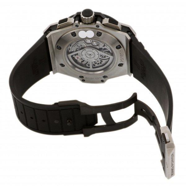 ウブロ HUBLOT キングパワー ウニコ チタニウム ダイヤ 701.NX.0170.RX.1704 シルバー文字盤 中古 腕時計 メンズ_画像6