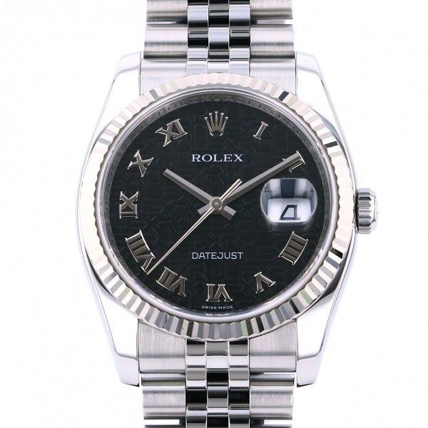 ロレックス ROLEX デイトジャスト 116234 ブラックローマ文字盤 中古 腕時計 メンズ_画像1