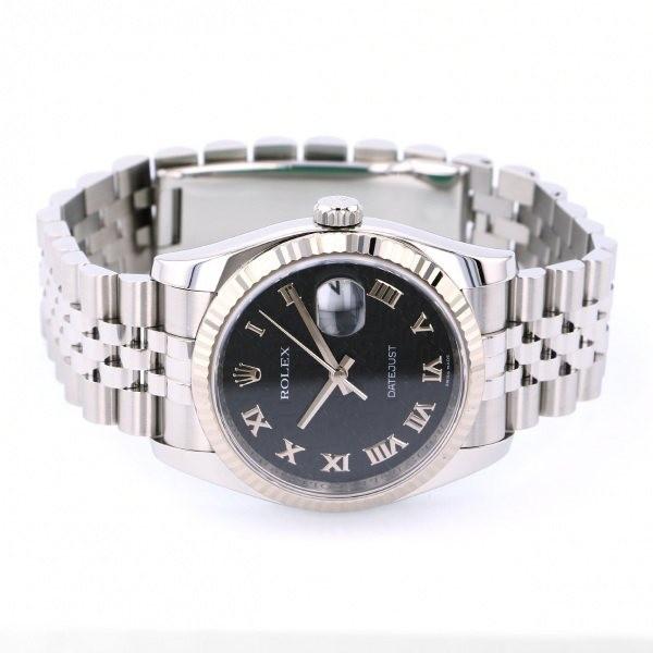 ロレックス ROLEX デイトジャスト 116234 ブラックローマ文字盤 中古 腕時計 メンズ_画像2